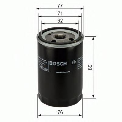 Фильтры масляные Масляный фильтр BOSCH арт. 0986452044