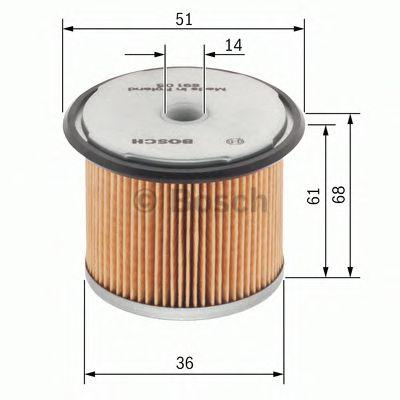 Фильтры топливные Топливный фильтр BOSCH арт. 1457429230