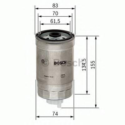 Фильтры топливные Топливный фильтр BOSCH арт. 1457434105