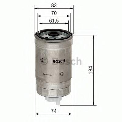 Фильтры топливные Топливный фильтр BOSCH арт. 1457434293