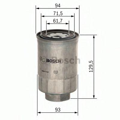 Фільтр паливний Bosch 1457434453