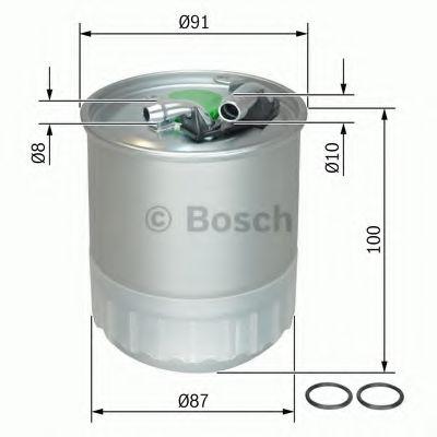 Фильтры топливные Топливный фильтр BOSCH арт. F026402056