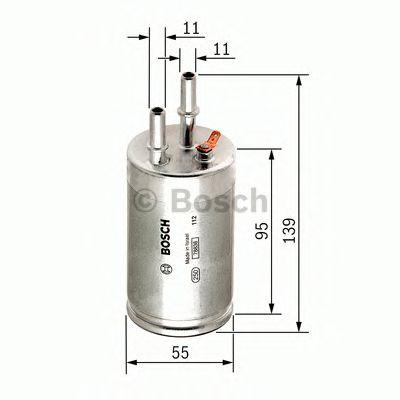 Фильтры топливные Топливный фильтр BOSCH арт. F026403014