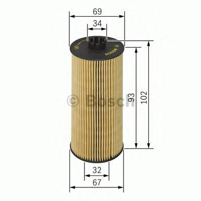 Фильтры масляные Масляный фильтр BOSCH арт. F026407010