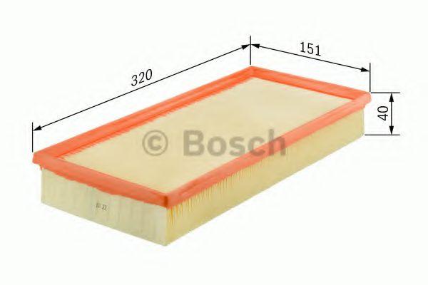 Фильтры воздуха салона автомобиля Воздушный фильтр BOSCH арт. 1457433317