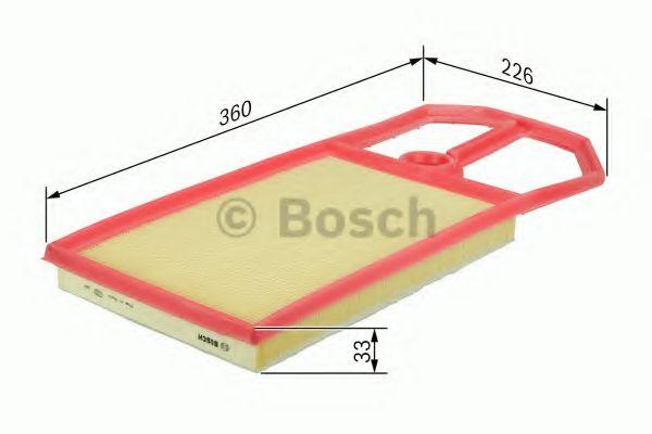 Фильтры воздуха салона автомобиля Воздушный фильтр BOSCH арт. 1457433574