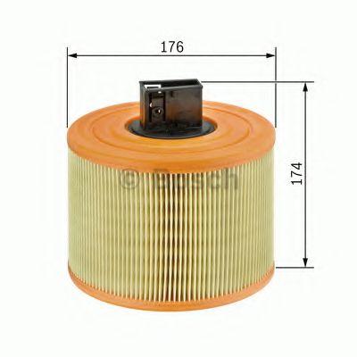 Фильтры воздуха салона автомобиля Воздушный фильтр BOSCH арт. F026400029