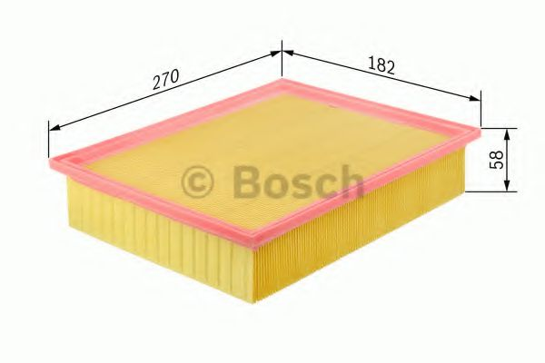 Фильтры воздуха салона автомобиля Воздушный фильтр BOSCH арт. F026400104