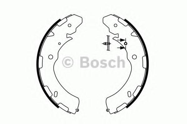 Колодки гальмівні барабанні Bosch 0986487758