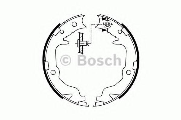 Комплект тормозных колодок, стояночная тормозная система Bosch - 0986487766