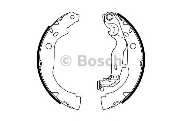 Комплект тормозных колодок BOSCH арт. 0986487774