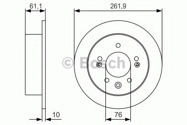 Диск гальмівний Bosch 0986479R09
