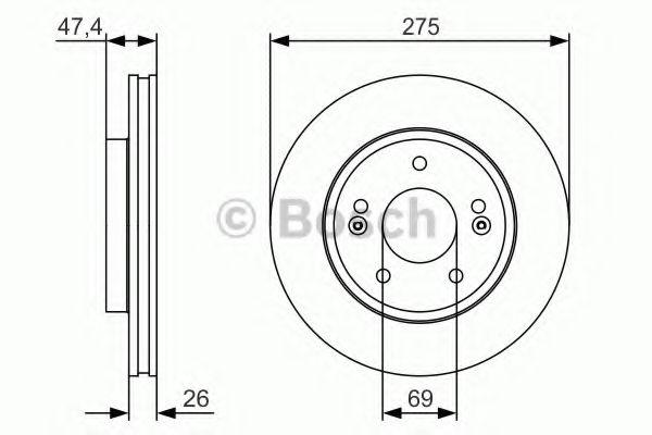 Тормозной диск BOSCH арт. 0986479R26
