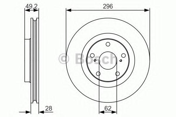 Тормозной диск BOSCH арт. 0986479R33