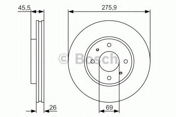 Диск гальмівний Bosch 0986479R94
