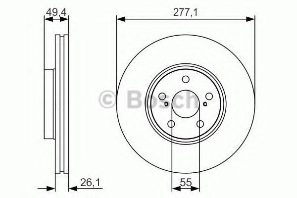 Тормозной диск BOSCH арт. 0986479S09