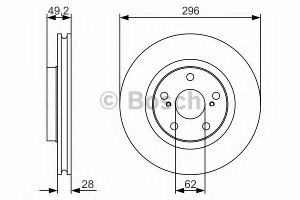 Тормозной диск BOSCH арт. 0986479S22