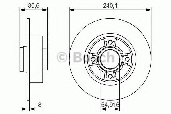 Диск гальмівний Bosch 0986479S37