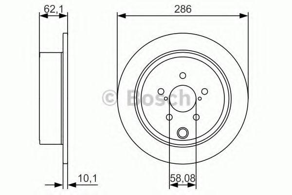 Диск гальмівний Bosch 0986479A10