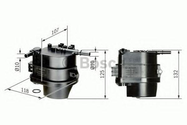Фильтры топливные Топливный фильтр BOSCH арт. 0450907007