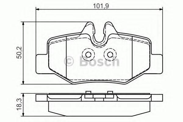 Комплект тормозных колодок, дисковый тормоз BOSCH арт. 0986495088