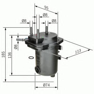 Фільтр паливний Bosch 0450907012