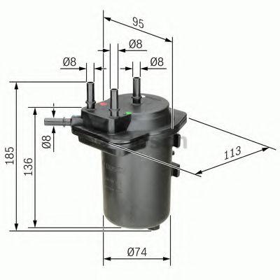 Фільтр паливний Bosch 0450907014
