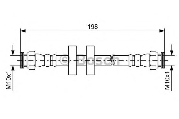 Тормозной шланг BOSCH арт. 1987481581