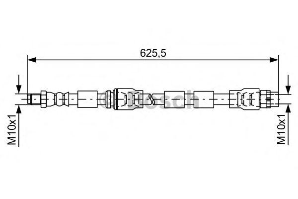 Тормозной шланг BOSCH арт. 1987481589