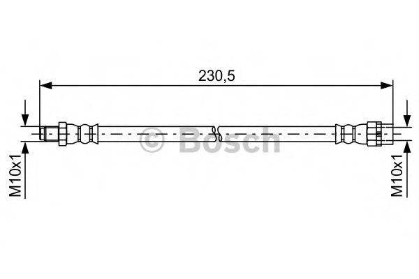 Тормозной шланг BOSCH арт. 1987481599