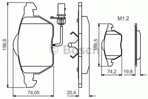 Комплект тормозных колодок, дисковый тормоз BOSCH арт. 0986495241