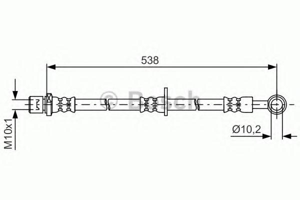 Тормозной шланг BOSCH арт. 1987481605