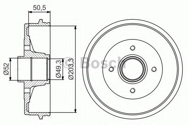 Тормозной барабан Bosch - 0986477210