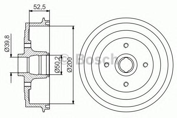 Барабан гальмівний Bosch 0986477217