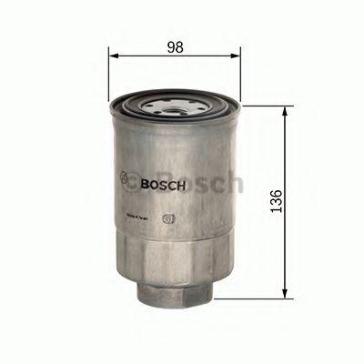 Топливный фильтр BOSCH арт.