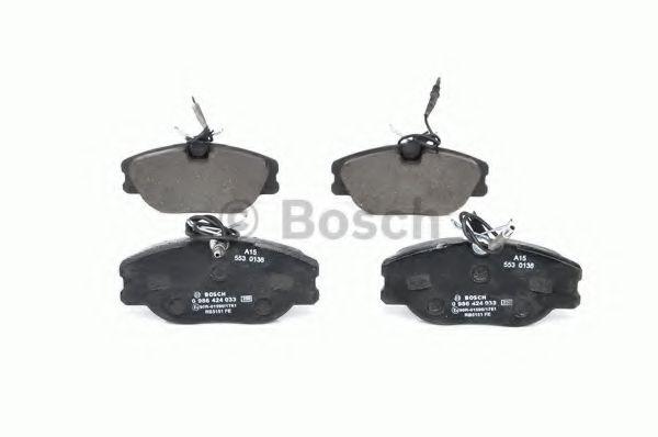 Комплект тормозных колодок, дисковый тормоз BOSCH арт. 0986424033