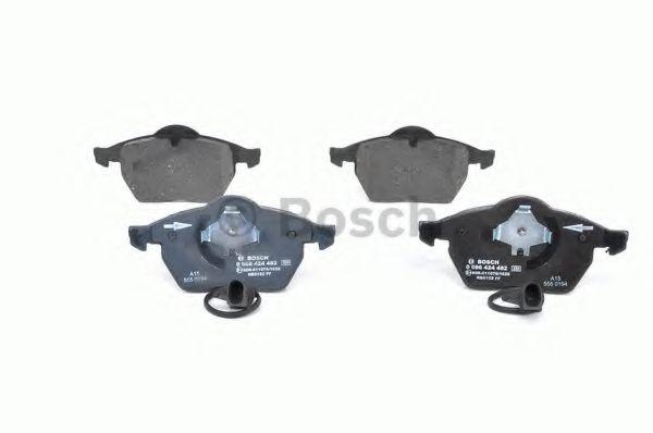 Комплект тормозных колодок, дисковый тормоз BOSCH арт. 0986424482
