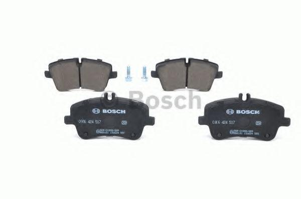 Комплект тормозных колодок, дисковый тормоз BOSCH арт. 0986424517
