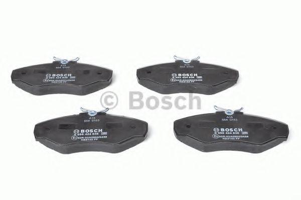 Комплект тормозных колодок, дисковый тормоз BOSCH арт. 0986424636