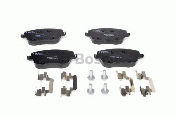 Комплект тормозных колодок, дисковый тормоз BOSCH арт. 0986424829