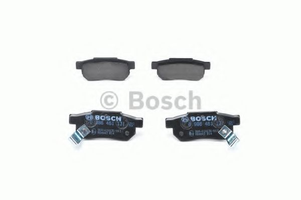 Комплект тормозных колодок, дисковый тормоз BOSCH арт. 0986461131
