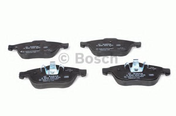 Комплект тормозных колодок, дисковый тормоз BOSCH арт. 0986494033