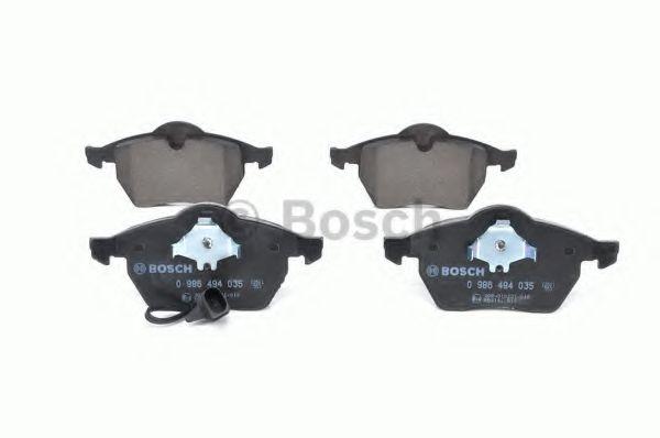 Комплект тормозных колодок, дисковый тормоз BOSCH арт. 0986494035