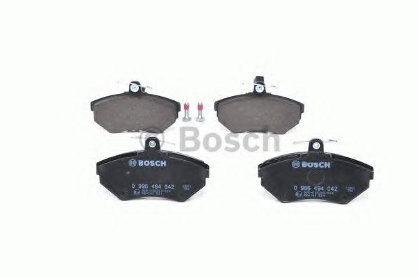 Комплект тормозных колодок, дисковый тормоз BOSCH арт. 0986494042