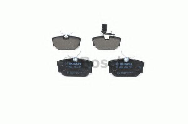 Комплект тормозных колодок, дисковый тормоз BOSCH арт. 0986494051