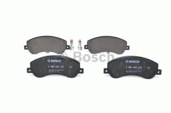 Комплект тормозных колодок, дисковый тормоз BOSCH арт. 0986494170