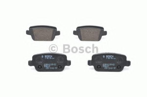 Комплект тормозных колодок, дисковый тормоз BOSCH арт. 0986494214