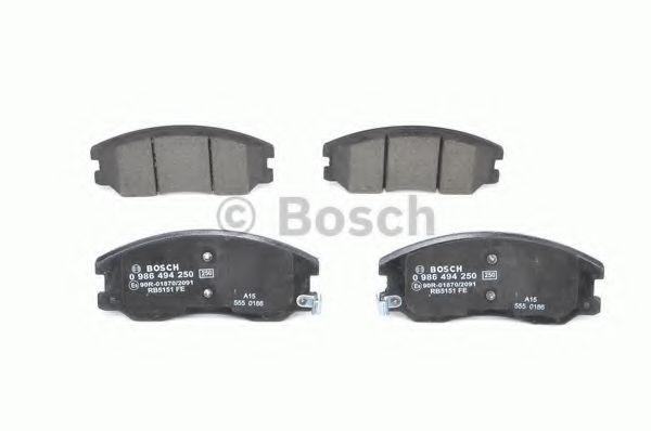 Комплект тормозных колодок, дисковый тормоз BOSCH арт. 0986494250