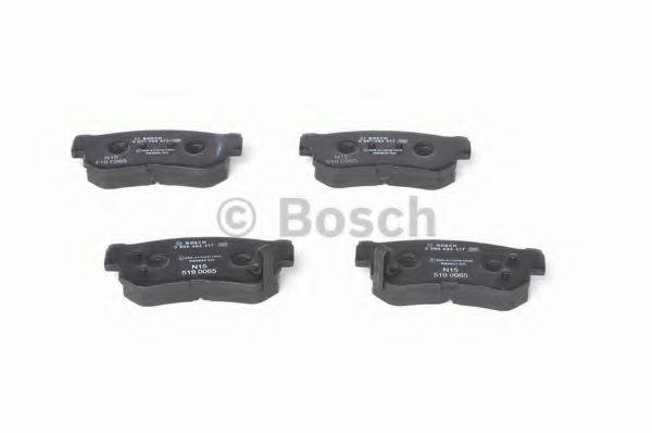 Комплект тормозных колодок, дисковый тормоз BOSCH арт. 0986494417
