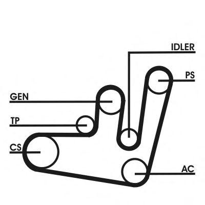 Поликлиновой ременный комплект CONTITECH арт. 6PK1660D2